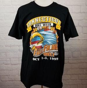 Vintage 1999 Connecticut Bike Week T-Shirt